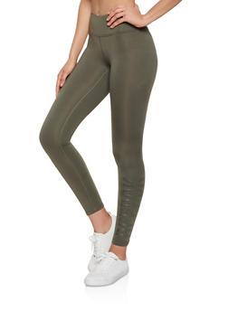 Reebok Graphic Fleece Lined Leggings - 1057076041937