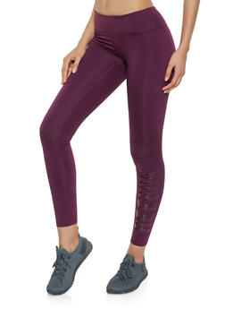 Reebok Graphic Fleece Lined Leggings - 1057076041937