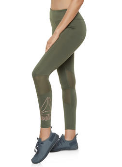 Reebok Active Leggings with Mesh Insert - 1057076041939