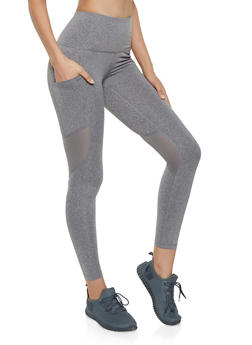 Reebok Active Leggings with Mesh Detail - 1057076043110