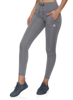Reebok Two Pocket Drawstring Leggings - 1057076048311