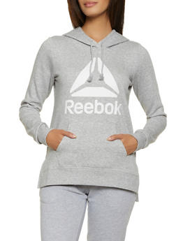 Reebok Hooded Pullover Sweatshirt with Logo - 1057076048335