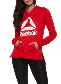 Reebok Hooded Pullover Sweatshirt with Logo - 1057076048335