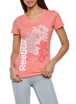 Reebok Graphic V Neck Tee - 1057076048414