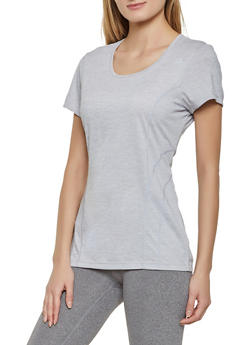 Reebok Short Sleeve Scoop Neck Active Top - 1057076049115