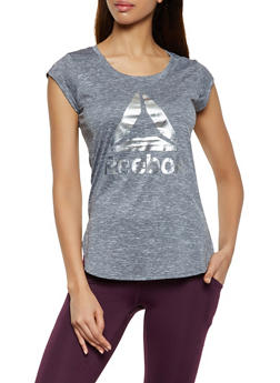 Reebok Logo Short Sleeve Active Top - 1057076049209
