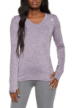 Reebok V Neck Long Sleeve Active Top - 1057076049307