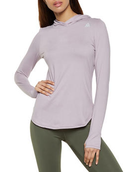 Reebok Long Sleeve Hooded Active Top - 1057076049309