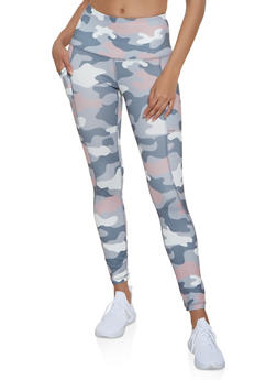 Reebok Active Leggings with Camo Print - 1057076049326