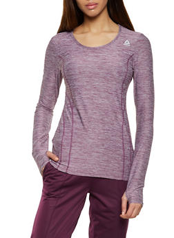 Reebok Marled Long Sleeve Active Top - 1057076049338