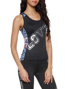 Love Graphic Activewear Tank Top - 1058038345560