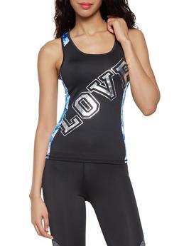 Love Graphic Activewear Tank Top - 1058038345560
