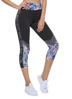 Love Trim Capri Activewear Leggings - 1058038345561