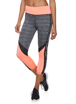 Love Trim Capri Activewear Leggings - 1058038345561
