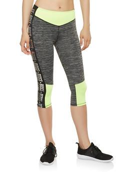 Boss Graphic Activewear Capri Leggings - 1058038345581