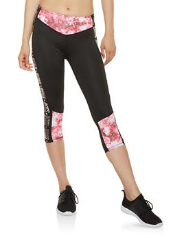 Boss Graphic Activewear Capri Leggings - 1058038345581