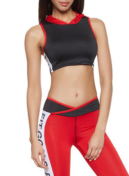 Fit Graphic Cropped Activewear Top - 1058038345590