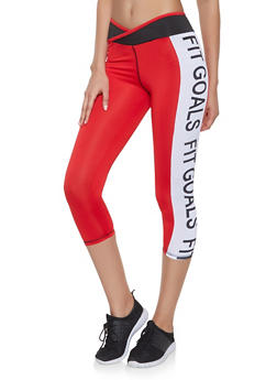 Fit Goals Graphic Activewear Leggings - 1058038345591