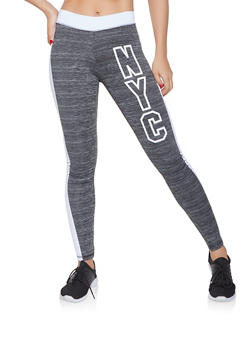 NYC Graphic Activewear Leggings - 1058038346031