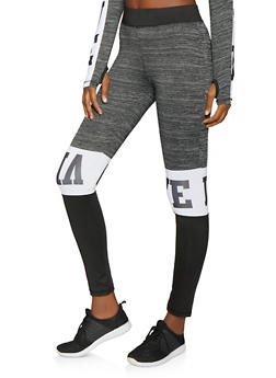 Love Color Block Activewear Pants - 1058038346051
