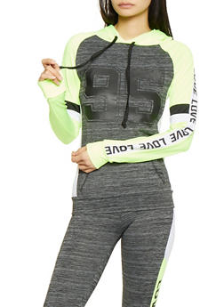 95 Love Graphic Hooded Active Sweatshirt - 1058038346060