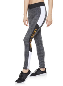 Love Color Block Activewear Leggings - 1058038346061