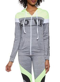 953d0dc41f3 Love Graphic Activewear Sweatshirt - 1058038346070