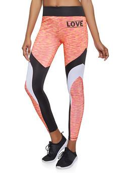 Love Graphic Activewear Leggings - 1058038346071