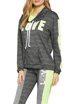 Pull Over Love Graphic Activewear Sweatshirt - 1058038346080