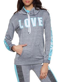 Love Graphic Activewear Sweatshirt - 1058038346080