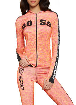 Boss Foil Graphic Activewear Sweatshirt - 1058038346090