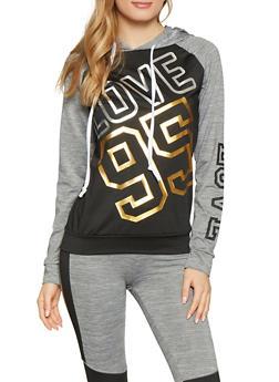 Love 95 Graphic Activewear Sweatshirt - 1058038346110