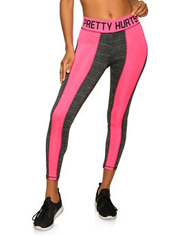 Pretty Hurts Color Block Leggings - 1058038346133