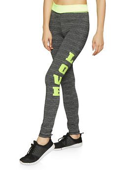 Love Graphic Activewear Leggings - 1058038346141