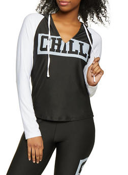 Chill Color Block Active Hooded Top - 1058038347070