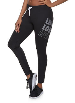 Love Graphic Active Pants - 1058038347231