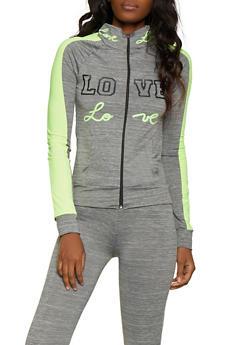 Love Graphic Active Sweatshirt - 1058038347500