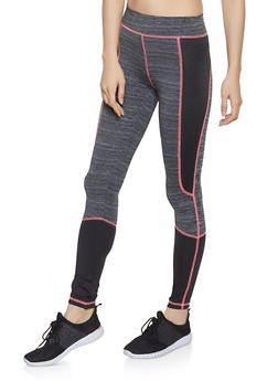 Color Block Activewear Leggings - 1058038347511