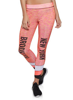 City Graphic Color Block Activewear Leggings - 1058038347611