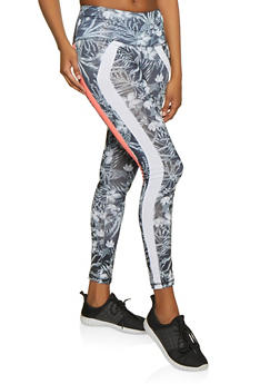 Two Tone Stripe Active Leggings - 1058038347641