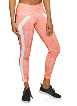 Two Tone Stripe Active Leggings - 1058038347641
