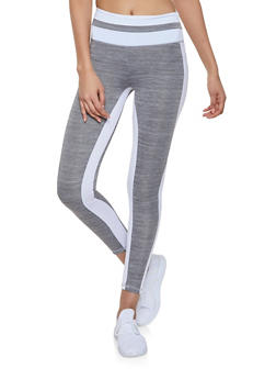 Color Block Activewear Leggings - 1058038347671