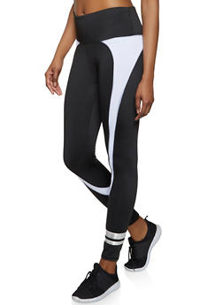 Varsity Stripe Color Block Active Leggings - 1058038347681