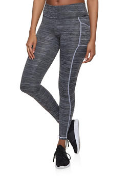 Decorative Stitch Active Leggings - 1058038347703