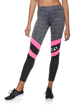 Slay Color Block Activewear Leggings - 1058038347711