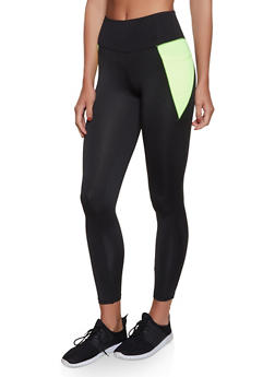 2 Pocket Color Block Activewear Leggings - 1058038347731