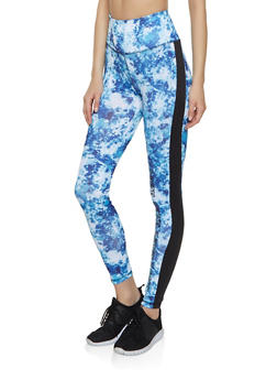 Love Color Block Active Leggings - 1058038347751