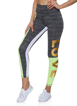 Foil Love Active Leggings - 1058038347761