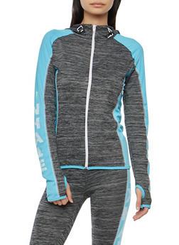 Inhale Exhale Graphic Hooded Active Sweatshirt - 1058038348122