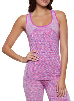 Multi Color Marled Active Tank Top - 1058069022859